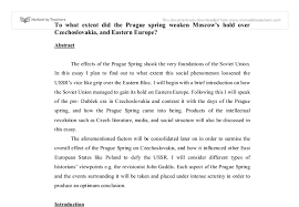 to what extent did the prague spring weaken moscow tm s hold over document image preview
