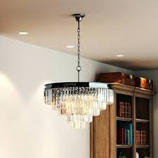 odeon 5 tier chandelier 5 tier black nickel chrome clear prisms crystal chandelier lighting odeon crystal