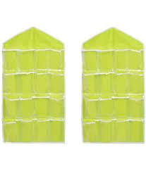 16 pockets organizer clear hanging bag for socks bra underwear cupboard rack hanger storage organiser jewelry