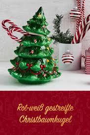 Rot Weiß Gestreifte Christbaumkugel Weihnachten Xmas