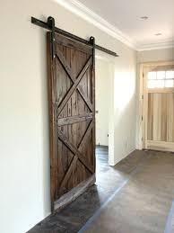 reclaimed barn doors double x pattern mushroom wood sliding door