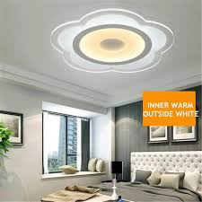 modern simple square acrylic led ceiling light living room bedroom home lamp inner warm and outside white intl singapore
