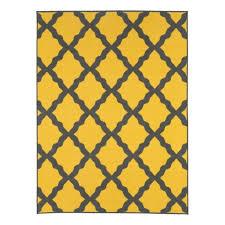 ottomanson studio collection sc7141 5x7 yellow moroccan trellis design 5 0 x6 0 area rug ottomanson