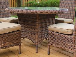 south sea rattan del ray round wicker dining table