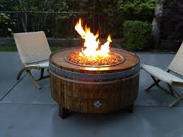 outdoor patio propane fire pit