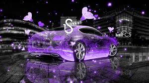bentley continental gt crystal fantasy flowers car