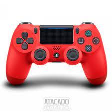 Controle Dualshock 4 para PS4 - Vermelho JET