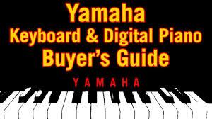Yamaha Clavinova Comparison Chart Yamaha Keyboard Digital Piano Buyers Guide