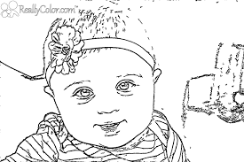 Small Picture Realistic Baby Coloring Pages Coloring Pages