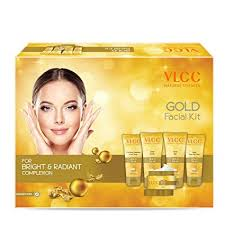 vlcc gold for bright radiant plexion kit 250g amazon in beauty