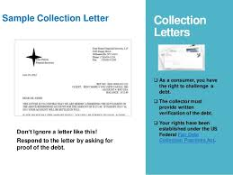 dept collection letter debt collection letter what do i do