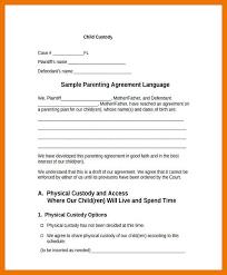 custody agreement examples 6 7 custody agreement example artresumeexamples com