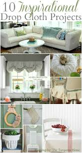 Paint Drop Cloth Curtains 10 Inspirational Drop Cloth Projects The Turquoise Home