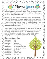 letter from teacher to parents teacher letter teacher met and goal