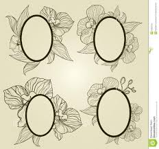 antique picture frames vector. Vector Set Of Vintage Frames With Flowers - Orchid. Forest, Abstract. Antique Picture I