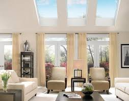large full design adorable living room with velux skylights