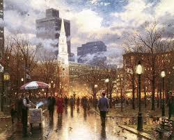 boston painting thomas kinkade boston art print