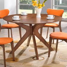round walnut dining table set