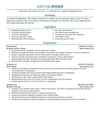 Resume Template Sales Entry Level Download Creative Design Intended