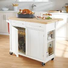 Real Simple® Rolling Kitchen Island In White Photo Gallery
