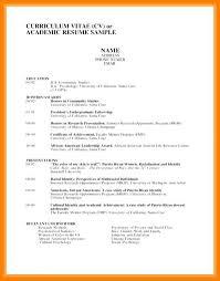Example Of An Academic Cv Modern Academic Cv Template For University