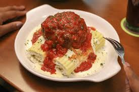 we tried olive garden s new giant meatball