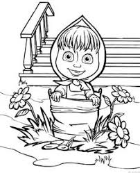 Small Picture Masha and the Bear Coloring Pages 16 Coloring pages for kids