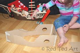 red ted s toy diy pirate ship we love this easy cardboard ship my kids still play with