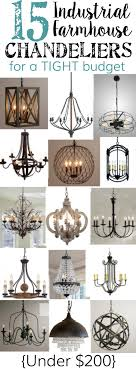 15 industrial farmhouse chandeliers for a tight budget blesserhouse com