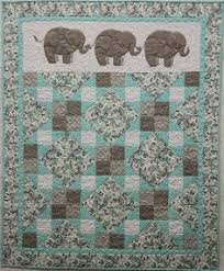 137 best Elephant quilts images on Pinterest | Quilt blocks ... & Lots of elephants in baby quilts! Pachyderm Parade baby quilt pattern at  Cheri Leffler Designs Adamdwight.com