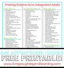 Age Appropriate Chore Charts Free Printable Home School