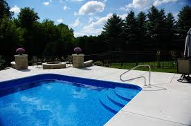 Trend Inground Pool Pictures Penguin S Custom Steps Made Of Concrete