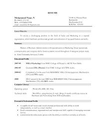 Objective For Marketing Resumeregularmidwesterners Resume Exa Sevte
