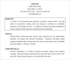Objective Resume Examples Hr Resume Objective Resume Profile Sample