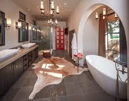 houston pottery barn moorish tile rug with square wall and floor tiles bathroom eclectic arched opening