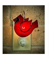 cardinal design stained glass nightlight ornament
