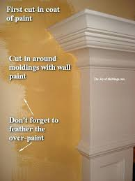how to cut in paint at ceiling painting walls around moldings cut paint ceiling