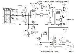 microwave sensor circuits diagram wiring electronic schematic design plans schema diy projects handbook guide tutorial schematico electrónico schématique diagrama