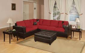 modern leather sectional couch. Exellent Modern Bobkona Red And Chocolate Sectional Sofa To Modern Leather Couch E
