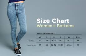 Size Chart 27 Size Guide Bench Online Store