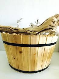 wooden laundry basket holder image 0 wood laundry basket holder plans