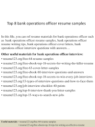 bank interview resume samples