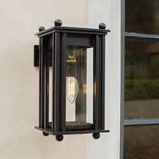 outdoor lantern lighting. Wall Mounted Carriage Outdoor Lantern In Matt Black Lighting