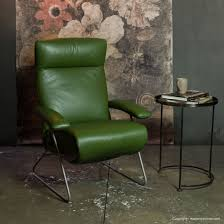 demi recliner by lafer green leather fcj503