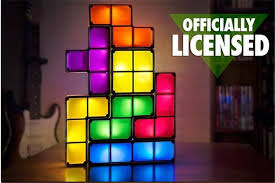 diy tetris puzzle light stackable led desk lamp constructible block night light retro game tower baby colorful brick toy in novelty lighting from lights