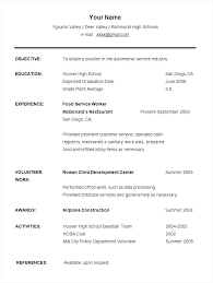 High School Resume Template No Work Experience Resume Templates High School Student Pohlazeniduse