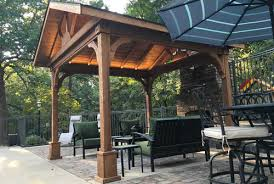 patio covers kits. Modren Covers Red Cedar Gabled Roof Pavilion 5700 12x16 Patio Cover  For Covers Kits C