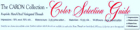 Caron Watercolours Chart Caron Collection Chart Color Selection Guide
