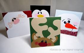 Paper Crafts For Christmas Pieces Of Me Scrapbooking Paper Crafts Winter Faces Christmas Cards