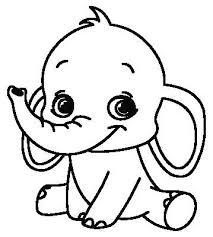 Baby Olifant Boyama Baby Tekening Olifanten En Olifant Silhouet